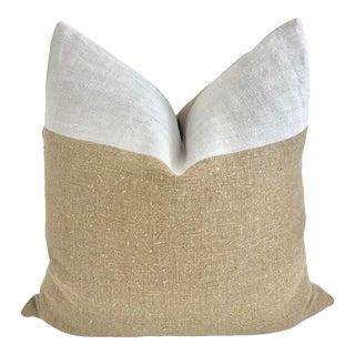Vintage European Textile Pillow 24 X 24 For Sale