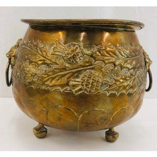 Antique Brass Cache Pot Jardiniere Planter Preview