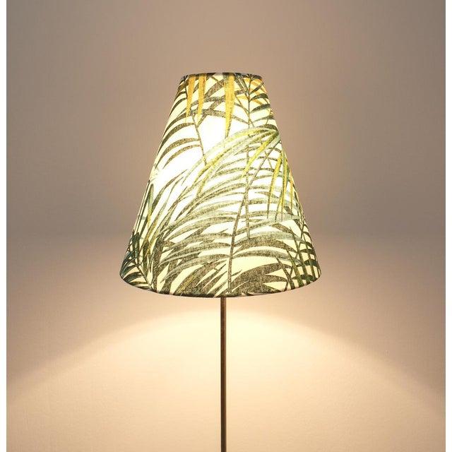 Coconut Brass Bamboo Floor Lamp Attr. Kalmar, Austria 1950 For Sale - Image 9 of 11