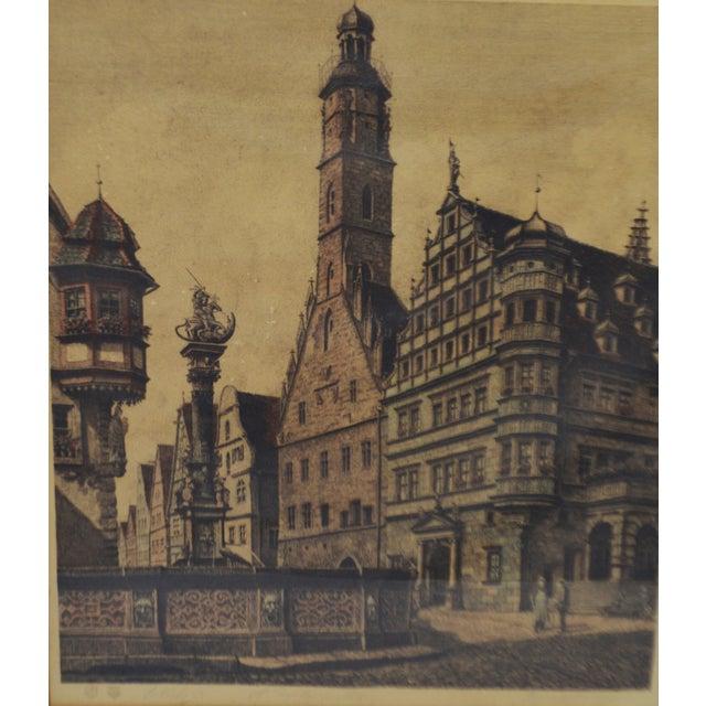 Vintage Ernst Geissendorfer Etching For Sale In Philadelphia - Image 6 of 11