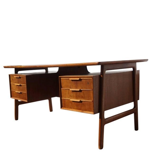 Mid-Century Modern 20th Century Scandinavian Gunni Omann Writing Desk For Sale - Image 3 of 9