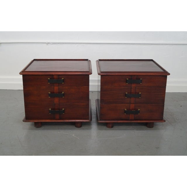 Paul Frankl Johnson Furniture Mahogany Station Wagon Nightstands- A Pair - Image 2 of 10