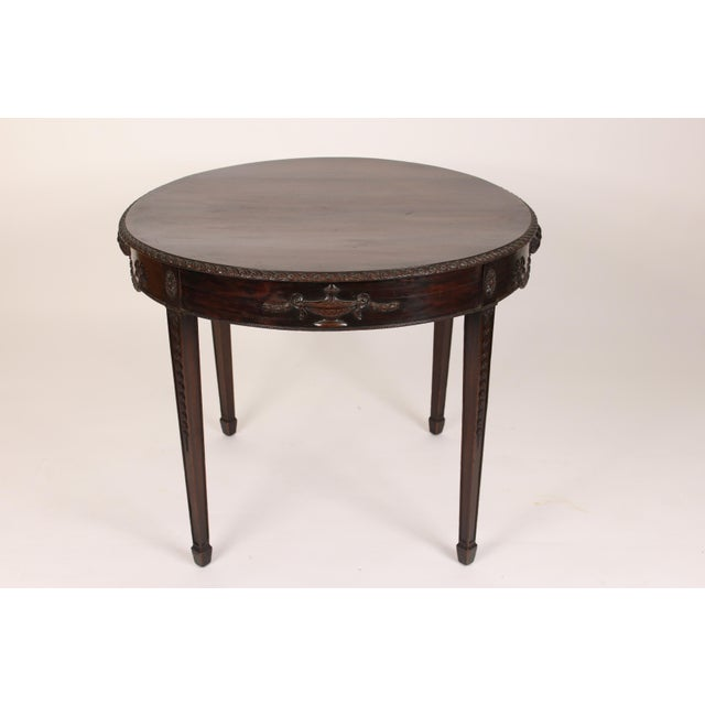 English Neo Classical Style Mahogany Center Table For Sale - Image 4 of 13