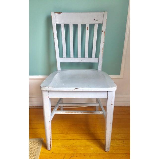 "Vintage Wooden ""Teacher's"" Desk Chair - Image 2 of 4"