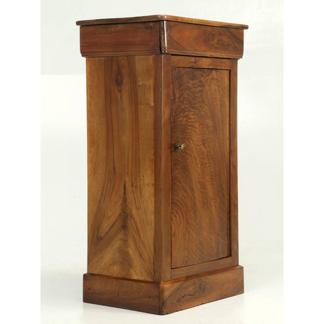 Antique French Louis Philippe Walnut Nightstand For Sale - Image 9 of 9