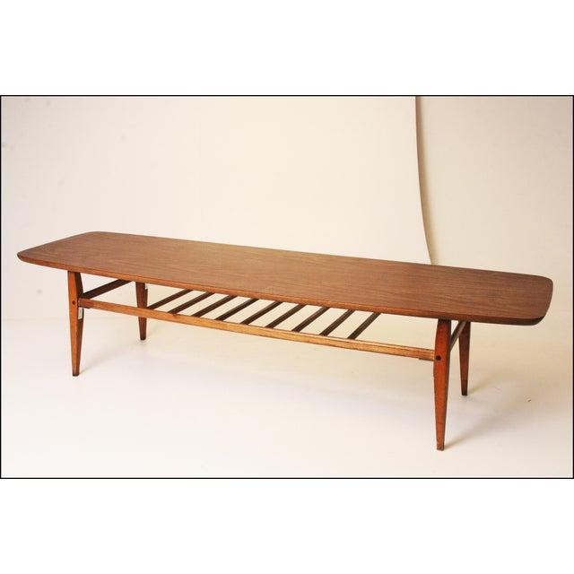 Vintage 71 Mid Century Modern Lane Danish Style Surfboard: Mid Centry Modern Lane Surfboard Coffee Table