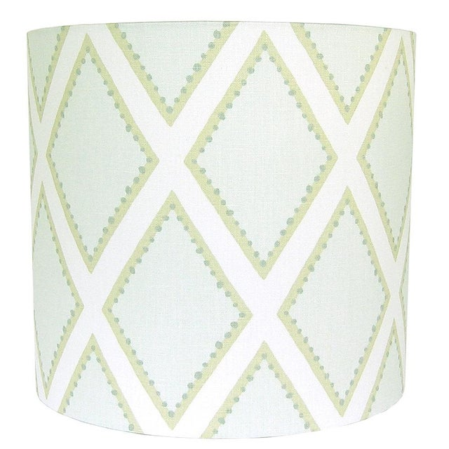Kravet Celadon Brookhaven Fabric Drum Lamp Shade - Image 3 of 3