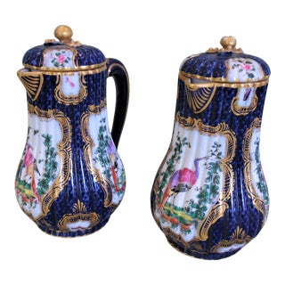 Late 19th Century Samson Chocolate Pots - a Pair For Sale
