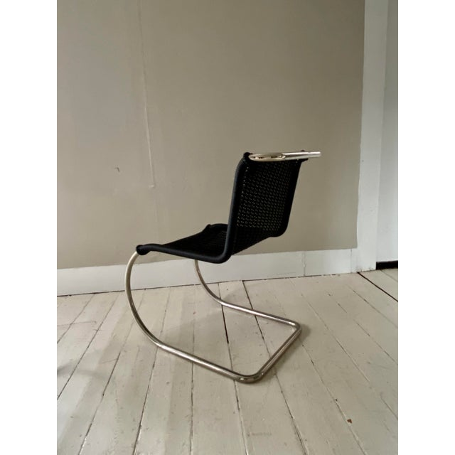1980s Mies Van Der Rohe Side Chairs- a Pair For Sale - Image 5 of 11