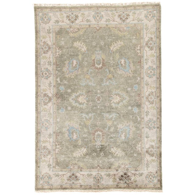 Jaipur Living Geneva Hand-Knotted Floral Green & Ivory Area Rug - 2′ × 3′ For Sale In Atlanta - Image 6 of 6