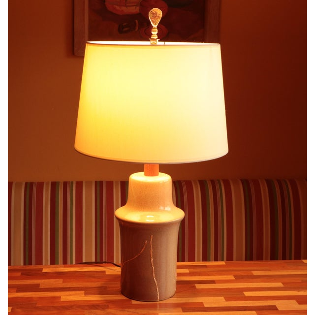 Asian Gold Mended Martz Marshall Studios Table Lamp For Sale - Image 3 of 11