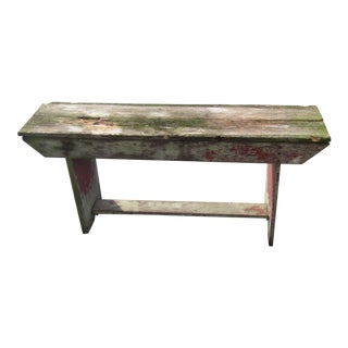 Early 20th Century Distressed Rustic Rural Bench