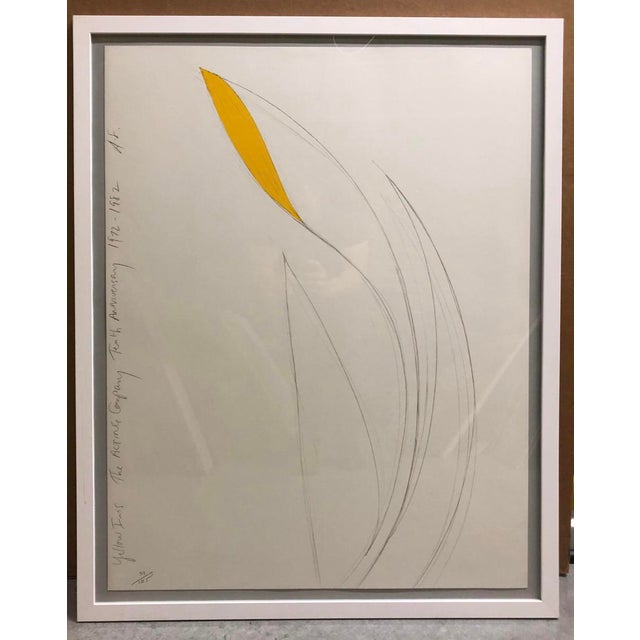 Donald Sultan Yellow Iris Lithograph 1982 For Sale - Image 6 of 6