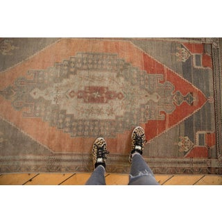 """Vintage Distressed Oushak Rug Runner - 3'9"""" X 7'11"""" Preview"""