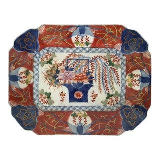 Vintage Porcelain Imari Style Platter For Sale