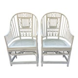 Image of 1970s Vintage Brighton Style Chinese Chippendale Chairs - A Pair For Sale