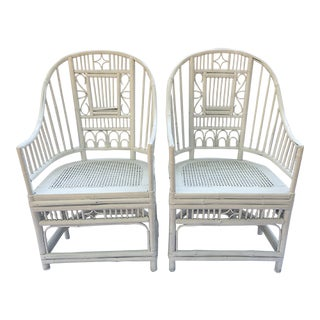 1970s Vintage Brighton Style Chinese Chippendale Chairs - A Pair For Sale