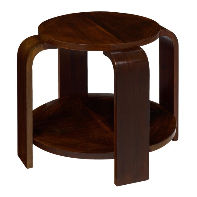 Art Deco Period Walnut Gueridon For Sale
