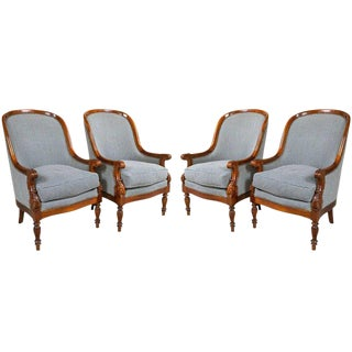 Empire-Style Armchairs - Set of 4
