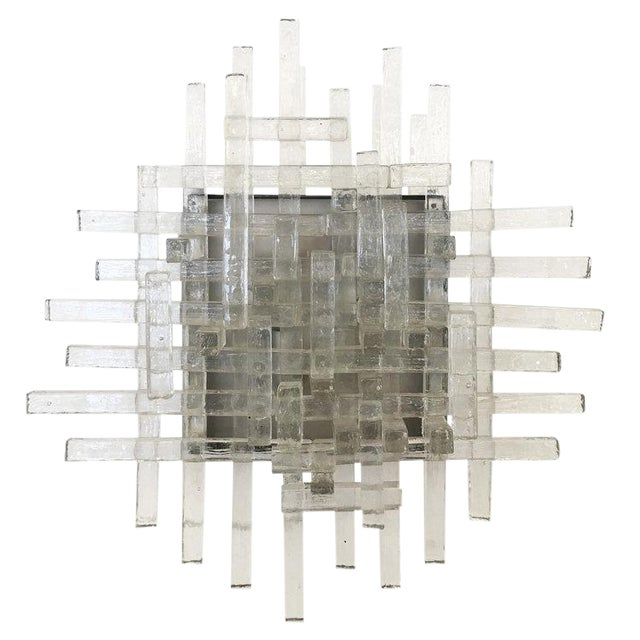 Murano Glass Sconces by Poliarte For Sale