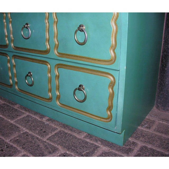 """Aqua Classic """"Espana"""" Chests in the Style of Dorothy Draper - A Pair For Sale - Image 8 of 9"""