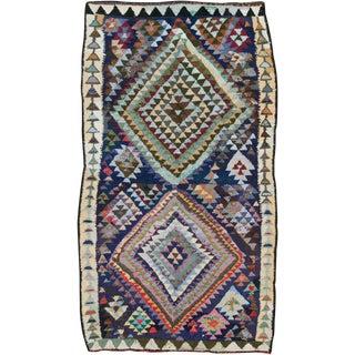 "Vintage Persian Flatweave Kilim Rug – Size: 5' 8"" X 9' 11"" For Sale"