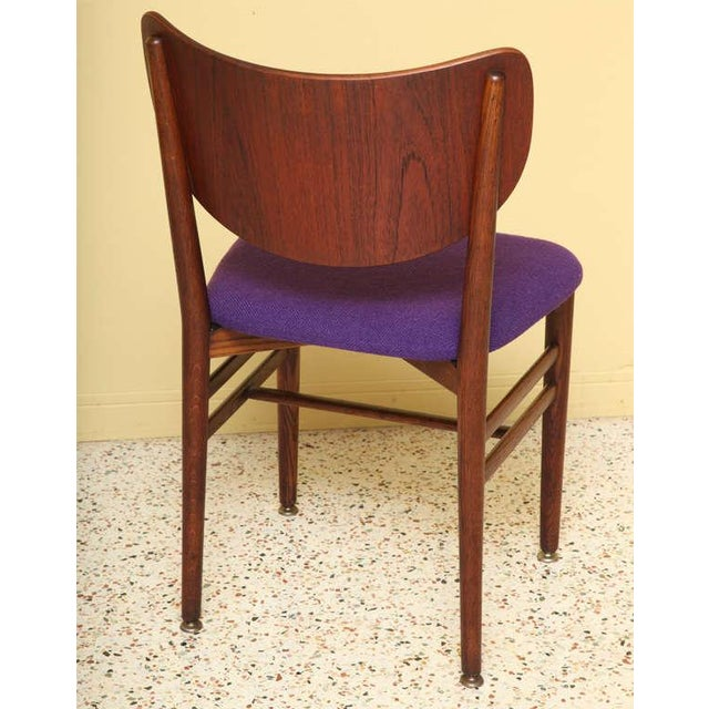 Danish Modern Set of 4 Eva & Nils Koppel Mid-Century Modern Fumed Oak Dining Chairs For Sale - Image 3 of 8