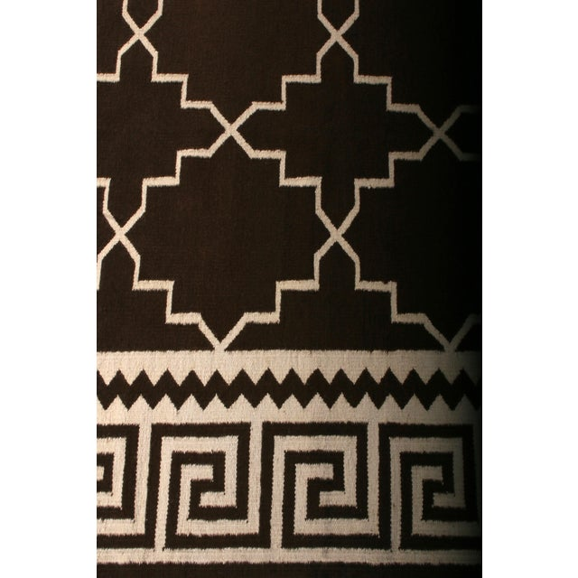 Rug & Kilim Contemporary Flat Weave Rug Brown and Beige Transitional Kilim Rug For Sale - Image 4 of 6