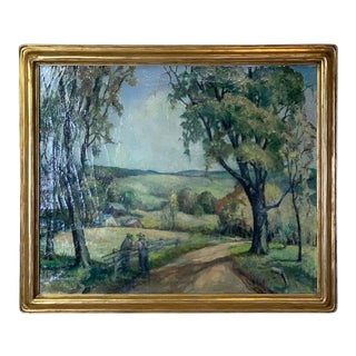 Early 20th Century Oil on Canvas Painting by Abigail Keyes Brown For Sale