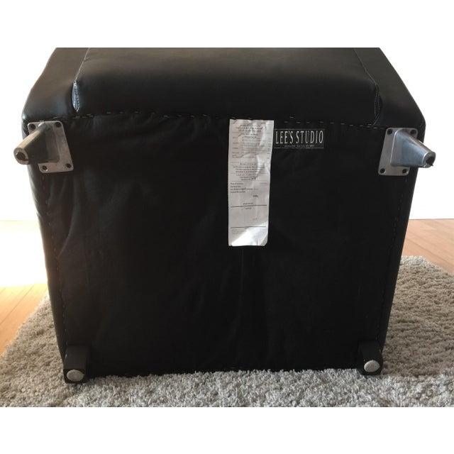 Jensen-Lewis Black Genuine Leather Chair - Image 9 of 10