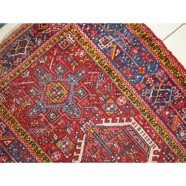 1920s Handmade Antique Persian Karajeh Runner - 3.5' X 10.8' - Image 10 of 10