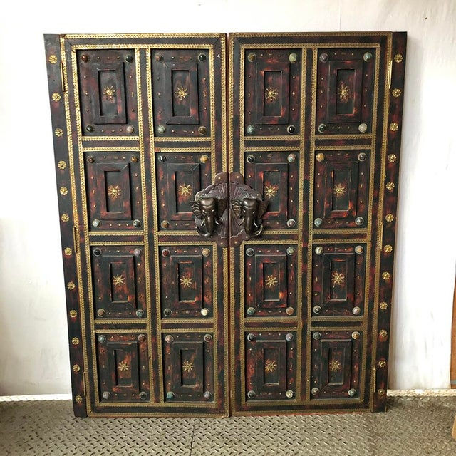 1980s Vintage Ornate Panel Door Set- A Pair For Sale In New York - Image 6 of 8