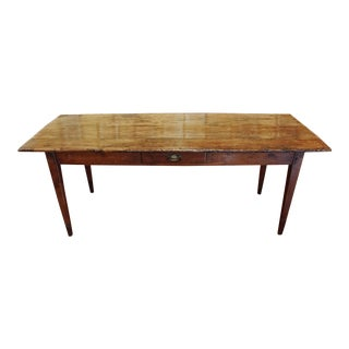 19th Century French Country Farm Table For Sale