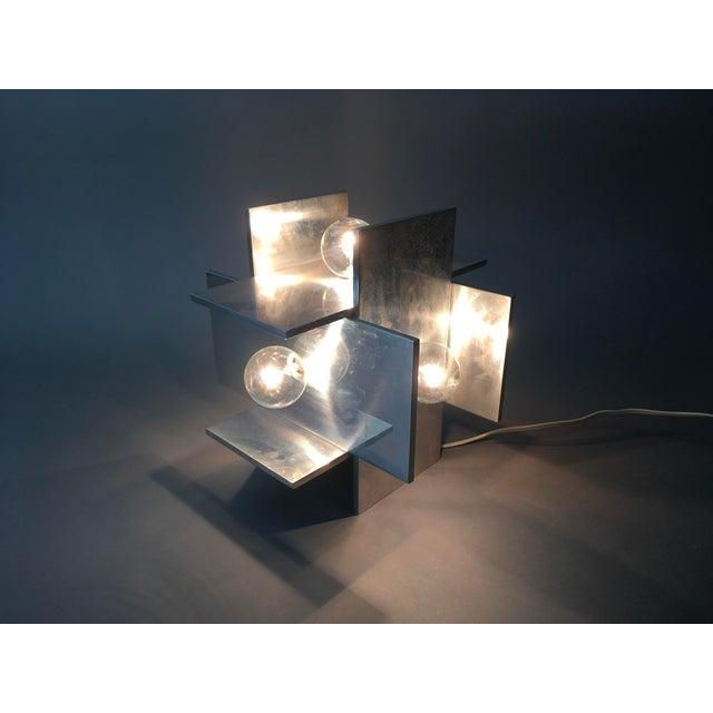 Rare Vintage Paul Mayen for Habitat Post Modern Geometric Aluminum Planed Lamp Item Details Very rare light designed by...