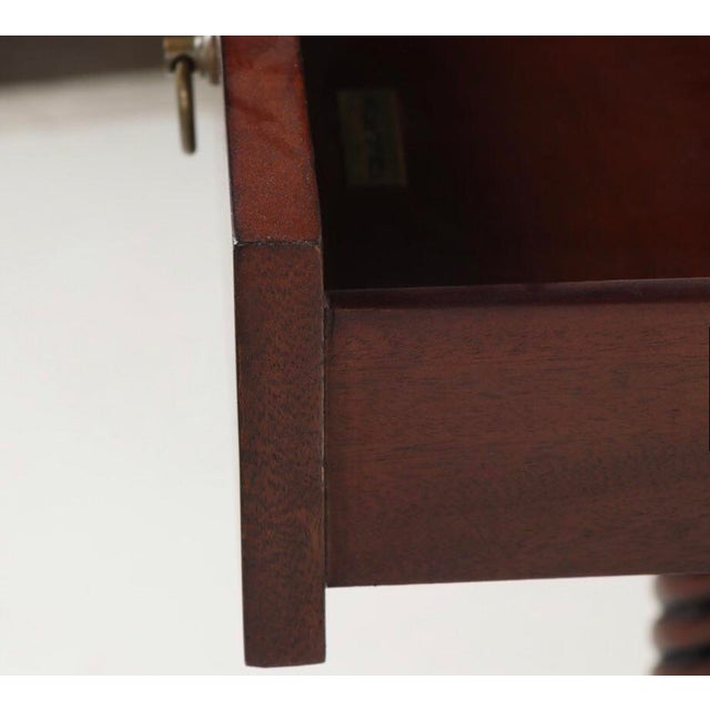 Gorgeous Maitland-Smith Mahogany Barley Twist Drop Leaf Table For Sale - Image 10 of 13
