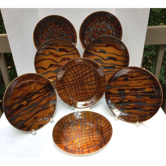 Contemporary Jaune De Chrome Dinner Plates - Set of 8 For Sale - Image 13 of 13