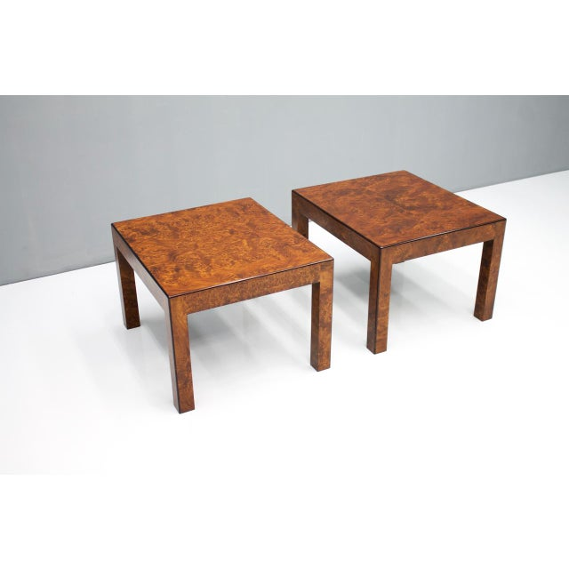Pair of Burl Wood Side or End Tables 1970s For Sale - Image 10 of 10
