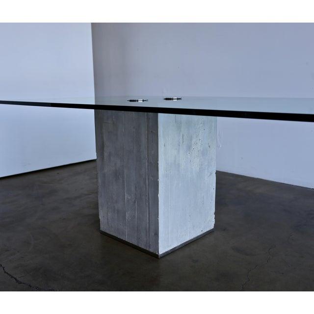Mid-Century Modern 1970s Sergio & Giorgio Saporiti Concrete and Glass Dining Table For Sale - Image 3 of 13