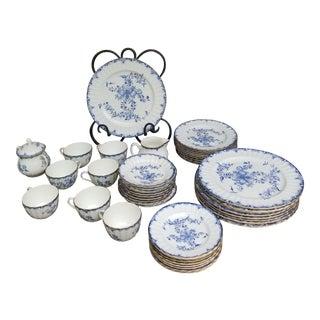 Vintage Royal Worcester Porcelain Dinnerware Set - 44 Pieces For Sale