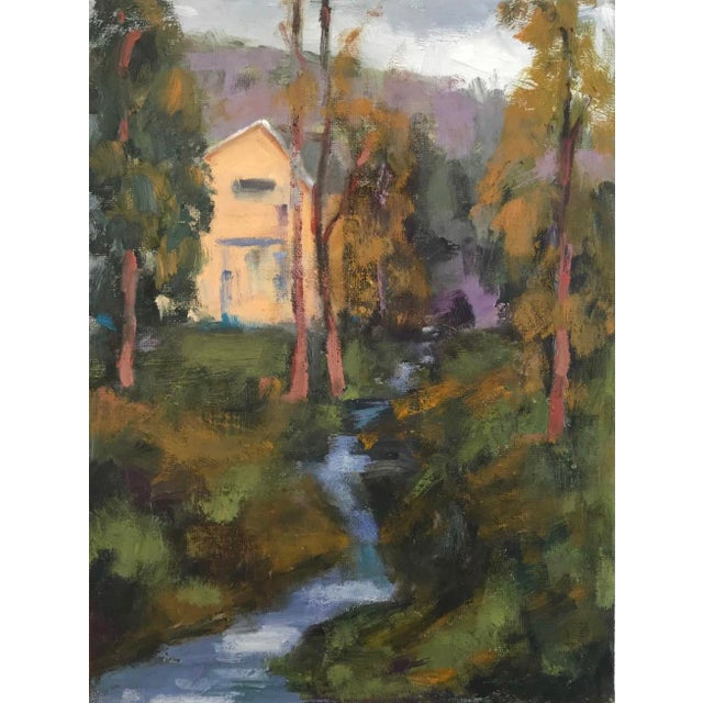 Amador Creek Plein Air Oil Painting For Sale In San Francisco - Image 6 of 6