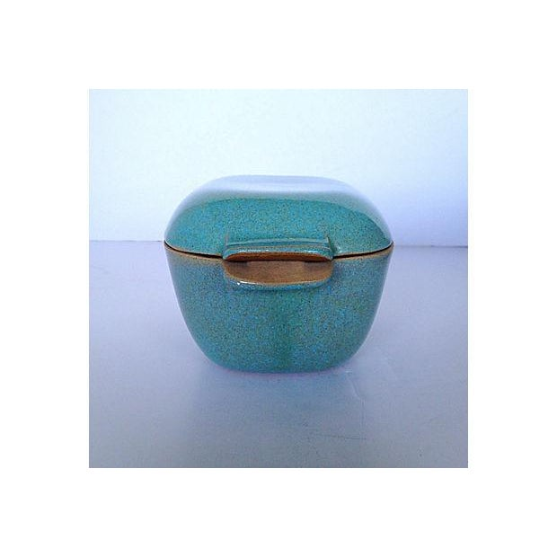 Glidden Antique Matrix Turquoise Casserole Dish For Sale In Austin - Image 6 of 9