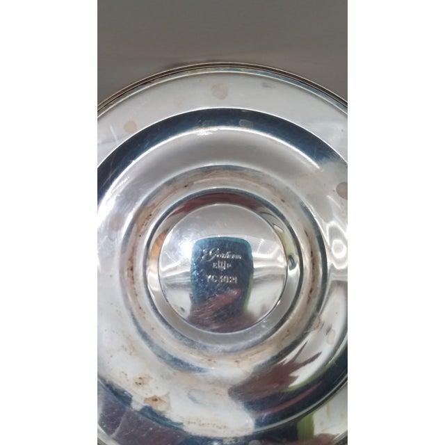 Art Nouveau 1880 Antique Gorham Silver on Copper 3 Light Twisted Candelabra For Sale - Image 3 of 5