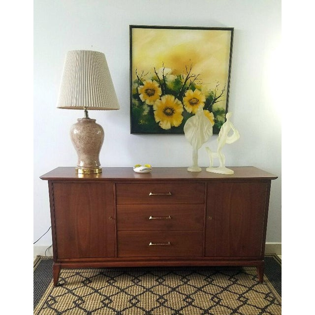 Vintage Walnut Sideboard / Credenza For Sale - Image 10 of 11