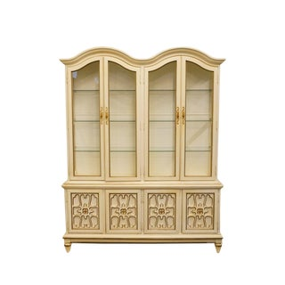 Late 20th Century Vintage Mount Airy French Provincial Style China Cabinet For Sale