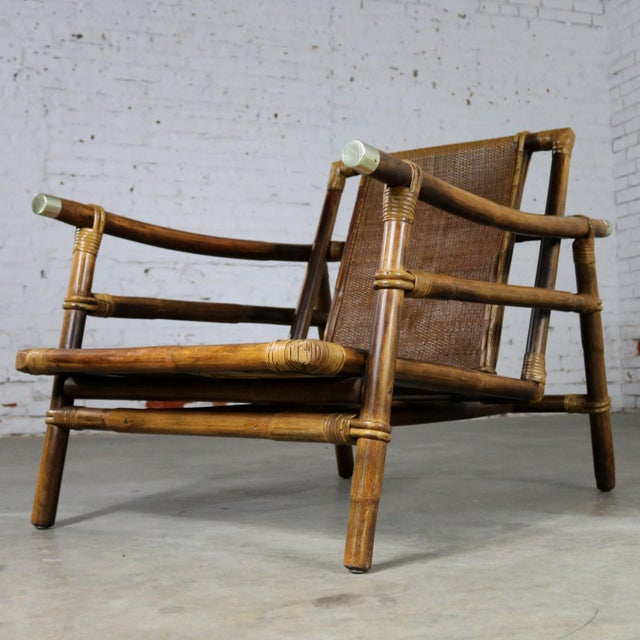 John Wisner for Ficks Reed Rattan Lounge Chair For Sale - Image 13 of 13