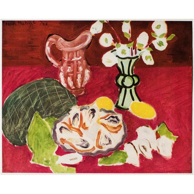 """Lithograph 1946 Henri Matisse Original """"Christmas Roses and Oysters"""" Period Parisian Lithograph For Sale - Image 7 of 8"""
