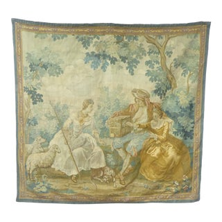 Vintage Flemish Verdure Style Tapestry For Sale