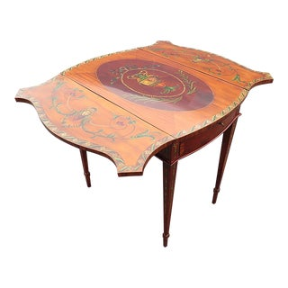 20th Century English Traditional Adam's Style Pembroke Table For Sale
