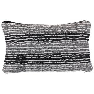 Indian Handwoven Pillow Small Ocean Stripe For Sale