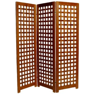 Danish Teak Folding Screen For Sale